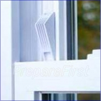 Window Stop -  Adhesive - WHITE - 2 Pack