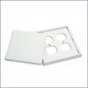 Outlet Cover - QUAD - REMOVABLE SOLID FACE PLATE - WHITE