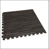 Cushioned Floor Mat - Wood Grain - 2 x 2 Foot Section - BLACK