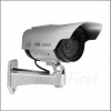 Simulated Security Camera - Indoor/Outdoor - Cylinder IR Type with Solar Power