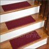 Non-Slip Stair Safety Carpet Pads - RED - STYLE #2 - Deluxe Border w/ Pre-Applied EZ Peel & Stick Strips - 27 x 9 INCH - 13 COUNT