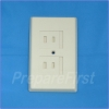 Outlet Cover - 2 prong - IVORY