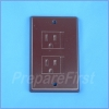 Outlet Cover - DECORA - BROWN