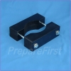 Gate Mount - BLACK - Post Clamp - ROUND POST