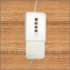 Power Safety Cover - EXTENSION CORD or IN-LINE ADAPTER - WHITE