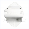 Gate - WHITE -  Retractable - Auto/Manual Time-Delay - Banister Adapter -  Latch Side