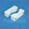 Gate Mount - WHITE - Post Clamp - ROUND POST