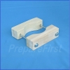 Gate Mount - NATURAL - Post Clamp - ROUND POST