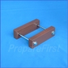 Gate Mount - BROWN - Post Clamp - 2 to 3.5 INCH POST