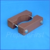 Gate Mount - BROWN - Post Clamp - ROUND POST