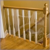 Railing/Banister Barrier - CLEAR - Plastic Sheet #2 - 15 FT