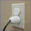 Outlet Cover - SINGLE PLUG PROTECTION - WHITE