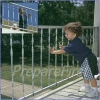 Railing/Banister Barrier - SILVER - Plastic Mesh - HEAVY DUTY - 15 FT